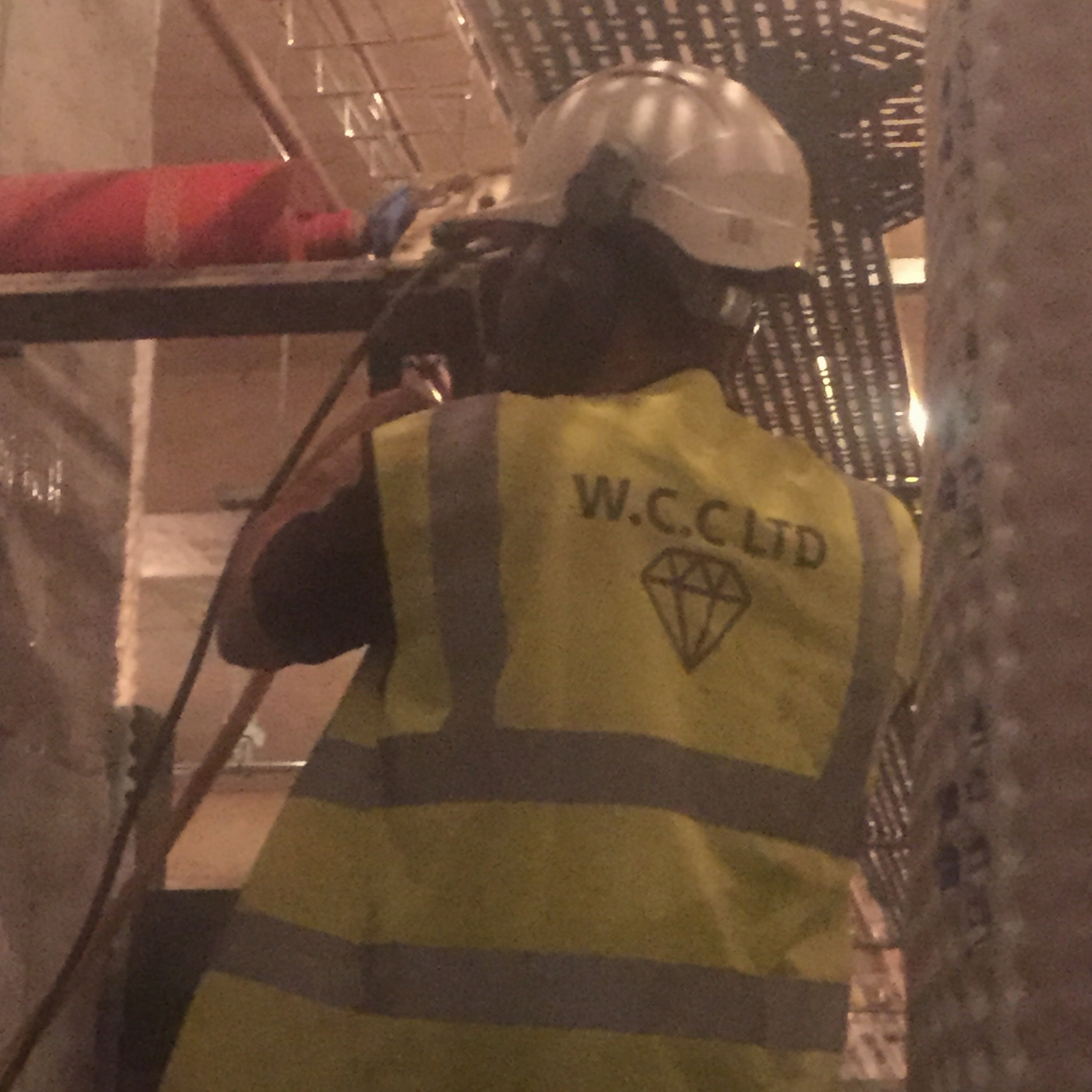 wcc Ltd core drilling services into a wall